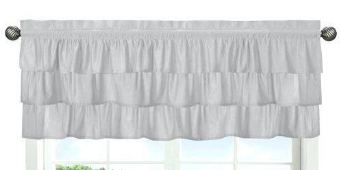 Shabby Chic Valance – Jamesdelles Pertaining To Rod Pocket Cotton Solid Color Ruched Ruffle Kitchen Curtains (View 18 of 25)