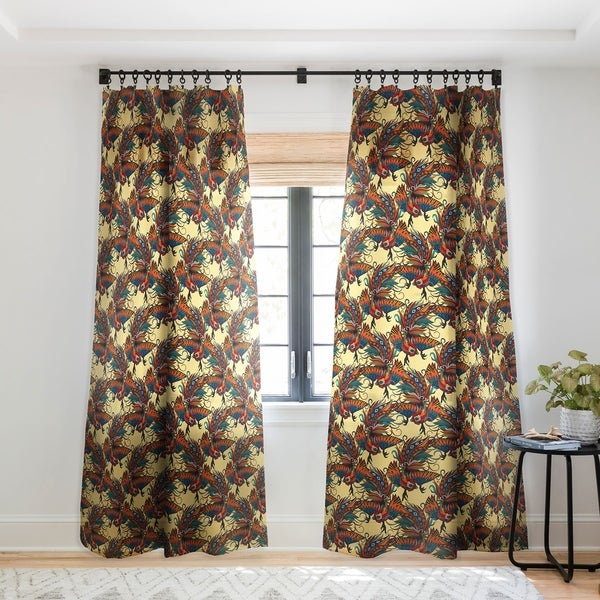 Sharon Turner Rooster Ink Single Panel Sheer Curtain Within Traditional Two Piece Tailored Tier And Swag Window Curtains Sets With Ornate Rooster Print (View 8 of 25)