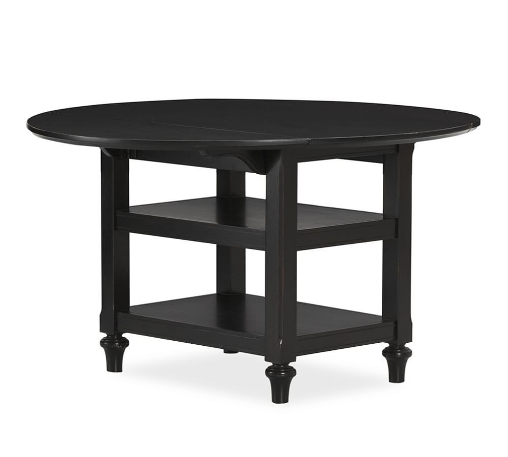 """Shayne Round Drop Leaf Kitchen Table, 49 X 26"""", Antique Intended For 2017 Mahogany Shayne Drop Leaf Kitchen Tables (View 17 of 25)"""