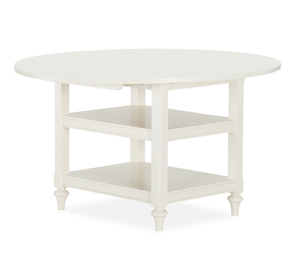 Featured Image of Antique White Shayne Drop Leaf Kitchen Tables