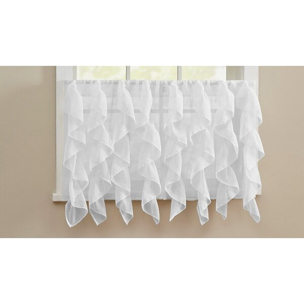 Sheer Cafe Curtains | Wayfair Within White Ruffled Sheer Petticoat Tier Pairs (View 19 of 25)