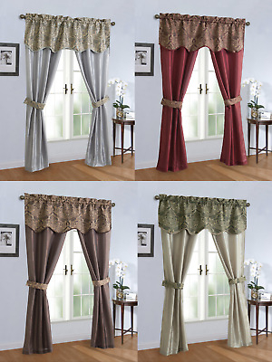 Sheer Scoop Valance Curtains – 2 Pc – $ (View 17 of 25)