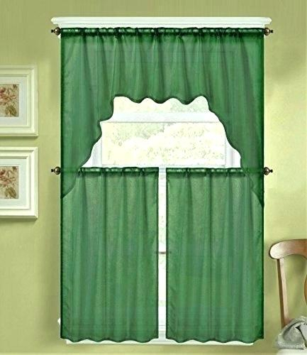 Sheer Swag Valances – Jjhome With Scroll Leaf 3 Piece Curtain Tier And Valance Sets (View 24 of 25)