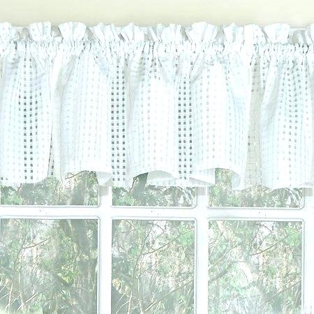 Sheer Tier Curtains – Conor425 For Ivory Micro Striped Semi Sheer Window Curtain Pieces (View 8 of 25)