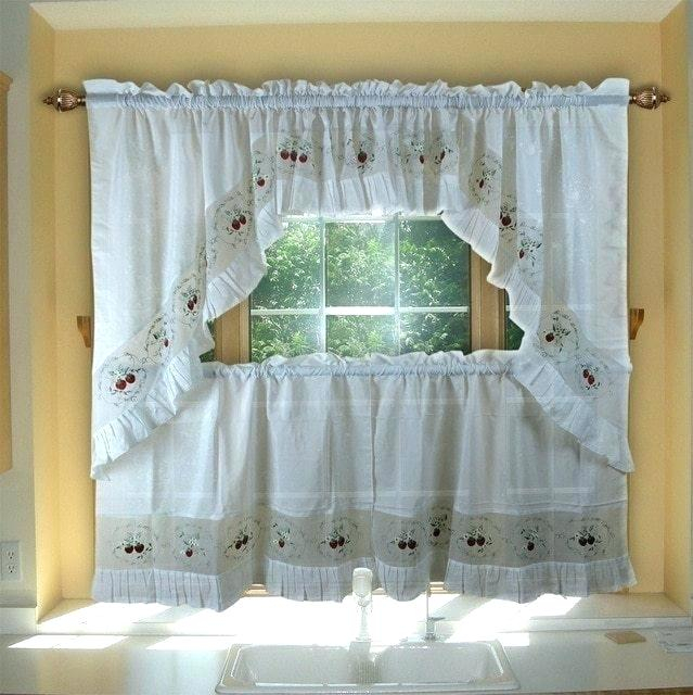 Sheer Tier Curtains – Conor425 For White Micro Striped Semi Sheer Window Curtain Pieces (Image 18 of 25)