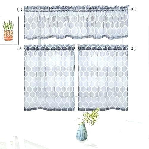 Sheer Tier Curtains – Conor425 In Micro Striped Semi Sheer Window Curtain Pieces (View 17 of 25)