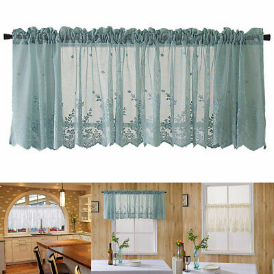 Sheer Voile Vertical Ruffle Window Kitchen Curtain Tiers Or Pertaining To Navy Vertical Ruffled Waterfall Valance And Curtain Tiers (View 19 of 25)