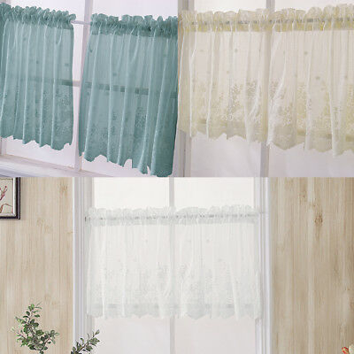 Sheer Voile Vertical Ruffle Window Kitchen Curtain Tiers Or With Regard To Chic Sheer Voile Vertical Ruffled Window Curtain Tiers (View 14 of 25)