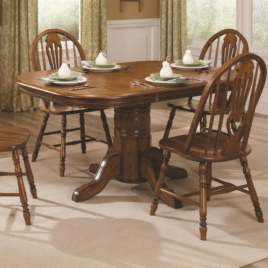 Shop Brooks Furniture Classic American Oak Wood Extending In 2018 Brooks Dining Tables (View 21 of 25)