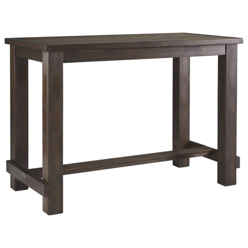 Signature Designashley Drewing Rectangular Bar Table For 2017 Griffin Reclaimed Wood Bar Height Tables (View 7 of 25)