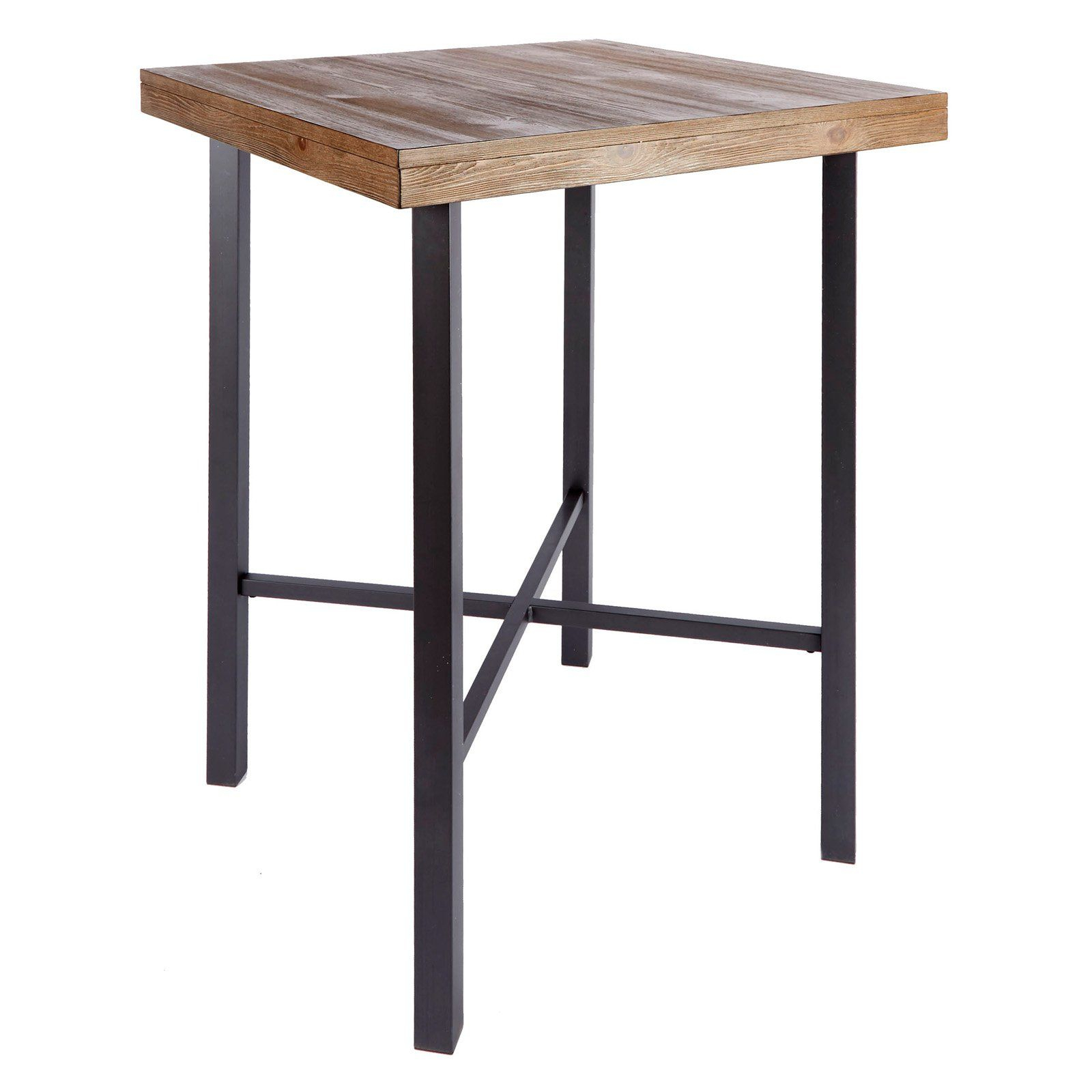 Silverwood Products Fowler Industrial Pub Table – Fd1055 Com Throughout 2018 Griffin Reclaimed Wood Bar Height Tables (View 2 of 25)