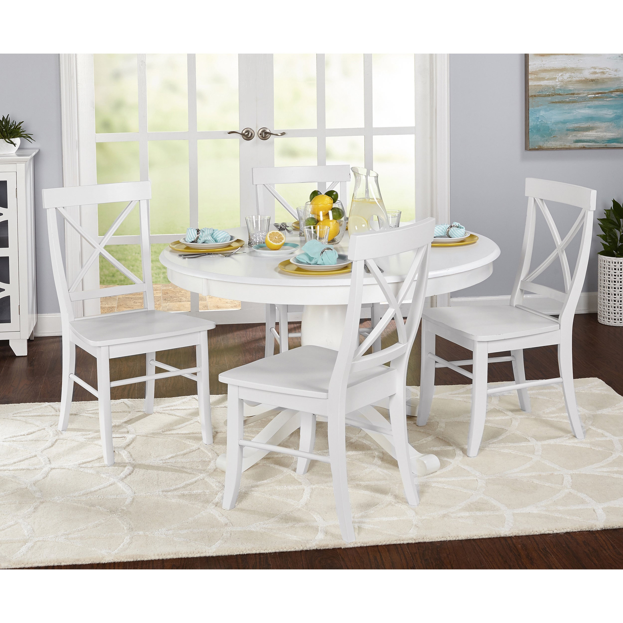 Simple Living 5 Piece Dawson Dining Set For 2018 Dawson Pedestal Tables (View 16 of 25)