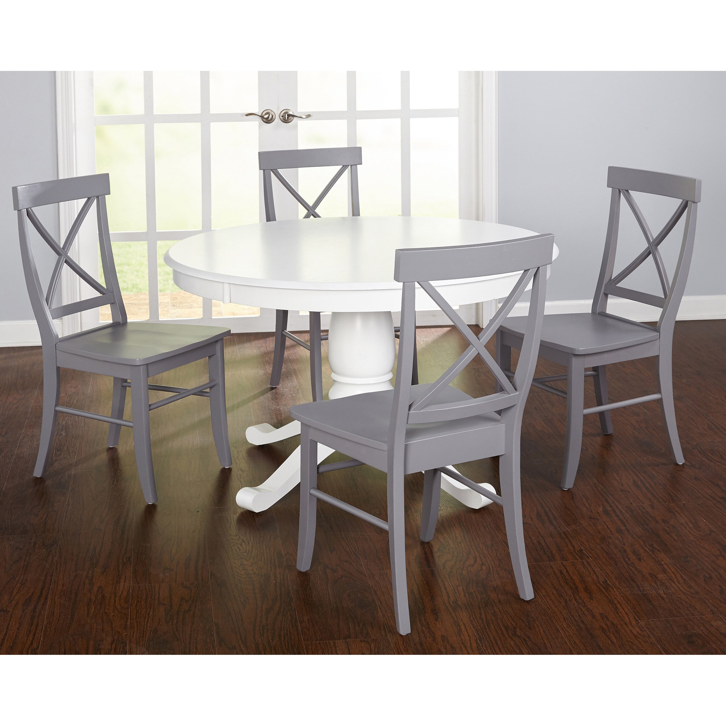 Simple Living 5 Piece Dawson Dining Set Within Most Up To Date Dawson Pedestal Dining Tables (Image 22 of 25)