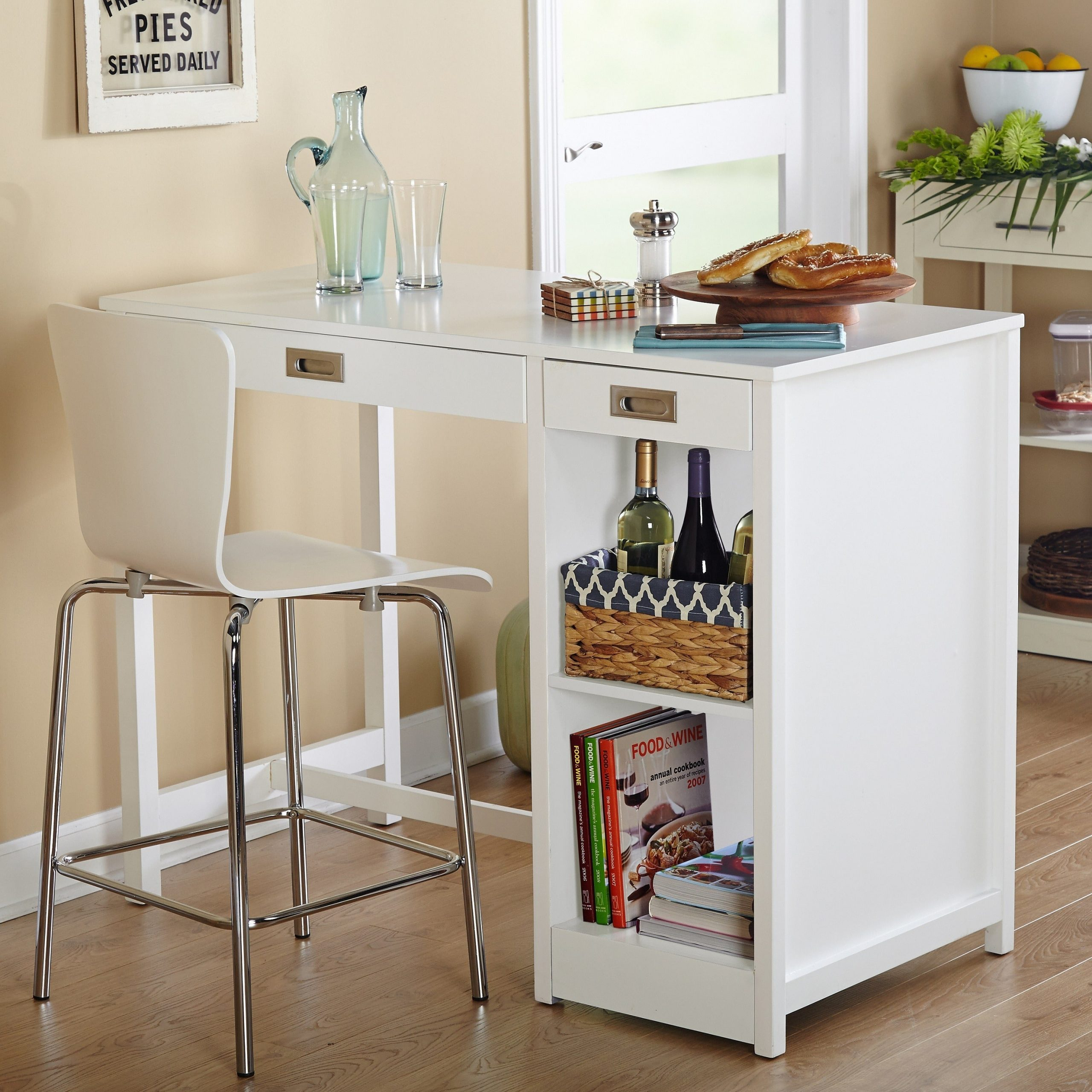 Simple Living Terri Counter Height Desk/dining Table – White With Most Recently Released Griffin Reclaimed Wood Bar Height Tables (View 20 of 25)
