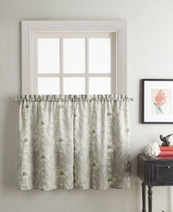 Sketch Floral 58 X 36 Window Tier   Products In 2019   Tier With Regard To Hopscotch 24 Inch Tier Pairs In Neutral (Image 21 of 25)