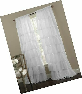 Small Multilayers Voile Sheer Fabric Half Window Curtain In Elegant Crushed Voile Ruffle Window Curtain Pieces (View 8 of 25)
