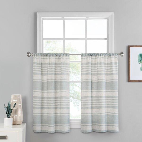 Small Window Kitchen Curtains | Wayfair Regarding Waverly Kensington Bloom Window Tier Pairs (Image 14 of 25)