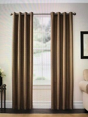 Solarshield® Oakwood 85 Inch Grommet Top Room Darkening Window Curtain Panel In 885308485762 | Ebay With Regard To Oakwood Linen Style Decorative Curtain Tier Sets (View 7 of 25)