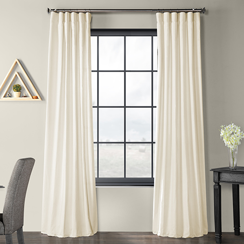 Solid Country Cotton Rod Pocket Ivory 50 X 120 Inch Curtain Single Panel Regarding Rod Pocket Cotton Solid Color Ruched Ruffle Kitchen Curtains (View 23 of 25)