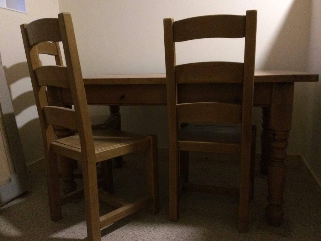 Solid Wood Table And Chairs | In Lanark, South Lanarkshire | Gumtree Within Latest Rustic Brown Lorraine Extending Dining Tables (View 25 of 25)