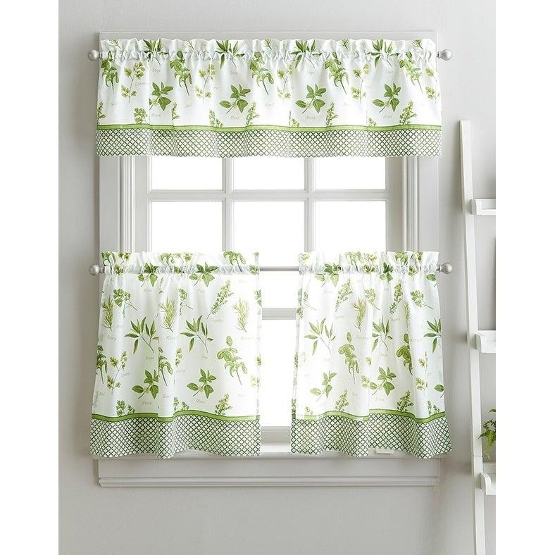Spring Herb Garden Kitchen Curtain Tier Set – 36 In (View 23 of 25)