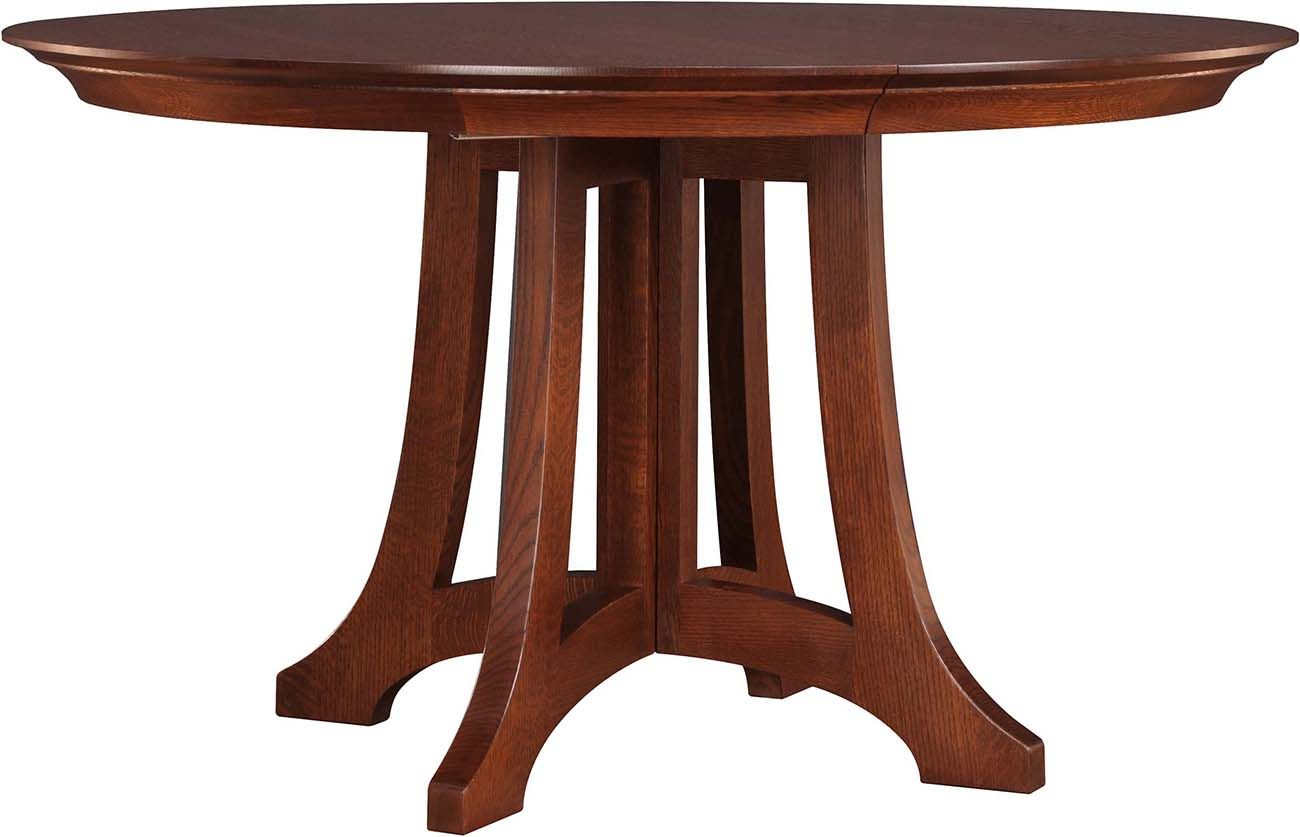 Stickley Highlands Round Dining Table 89 594 46 2Lvs A In Most Recently Released Linden Round Pedestal Dining Tables (View 7 of 25)