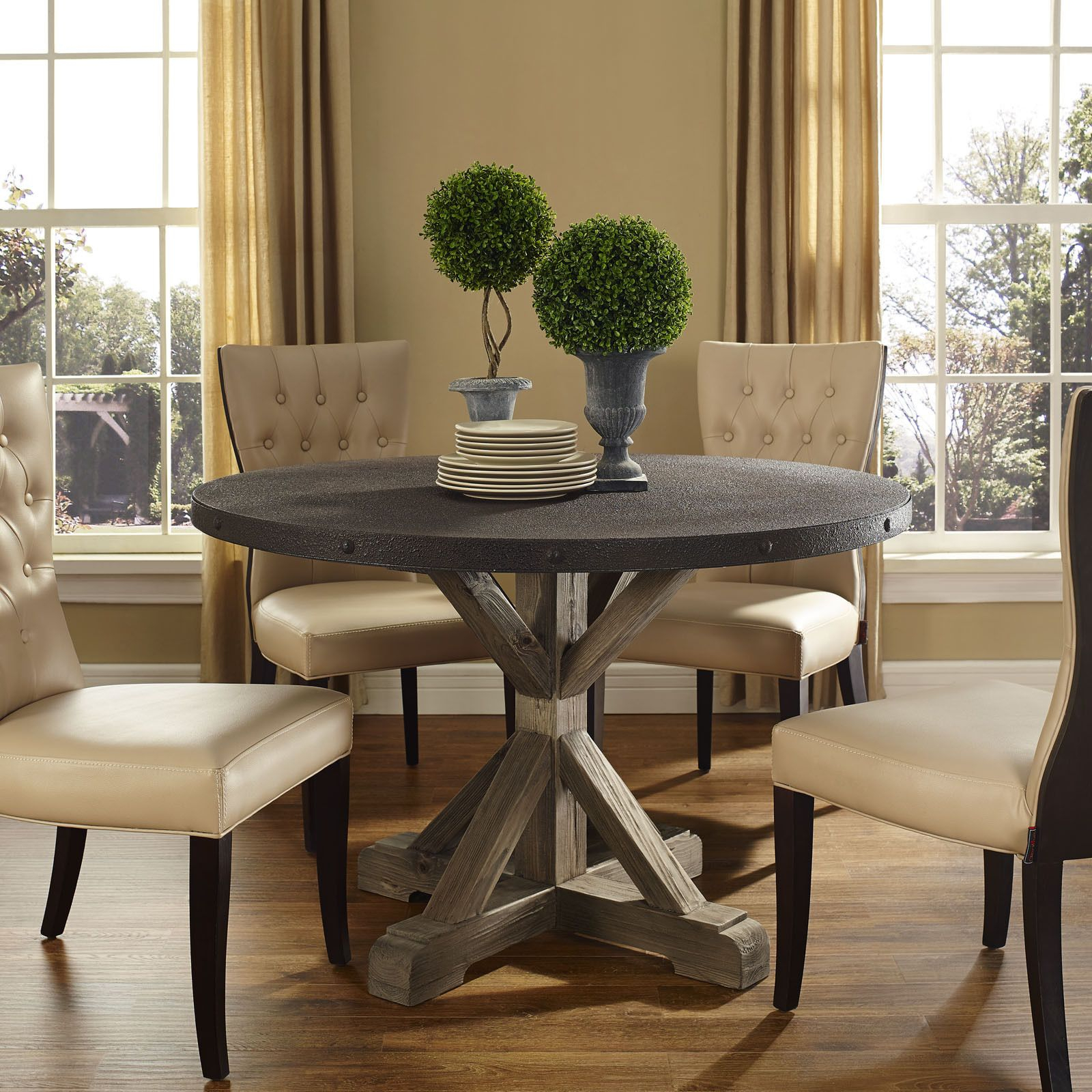 Stitch Wood Top Dining Table | Dining Table, Dining Room With 2018 Hart Reclaimed Wood Extending Dining Tables (Image 24 of 25)