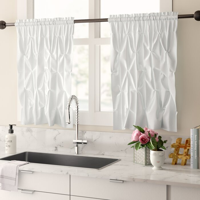 Stocksbridge Pintuck Kitchen Curtain With Regard To Pintuck Kitchen Window Tiers (View 12 of 25)