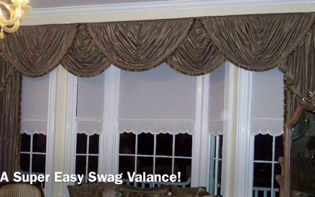 Stunning Victory Swag Valance Window Best Kitchen Waterfall Throughout Kitchen Burgundy/white Curtain Sets (View 20 of 25)