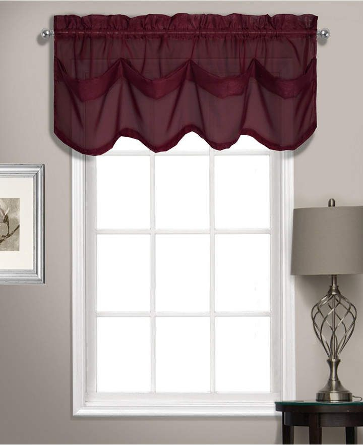 Summit 56 X 14 Tuck Valance In 2019 | Products | Valance For Luxury Light Filtering Straight Curtain Valances (Image 19 of 25)