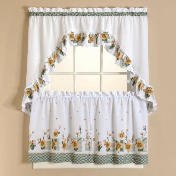 Sunflower Kitchen Curtains – Tallfloorvases (View 22 of 25)