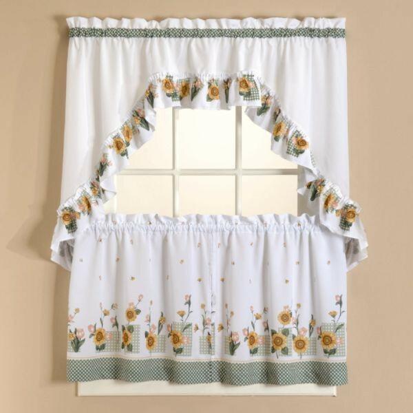 Sunflower Kitchen Curtains – Tallfloorvases (View 11 of 25)