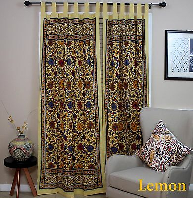 Sunflower Tab Top Cotton Curtain Drape Door Panel Window Within Traditional Tailored Window Curtains With Embroidered Yellow Sunflowers (View 25 of 25)