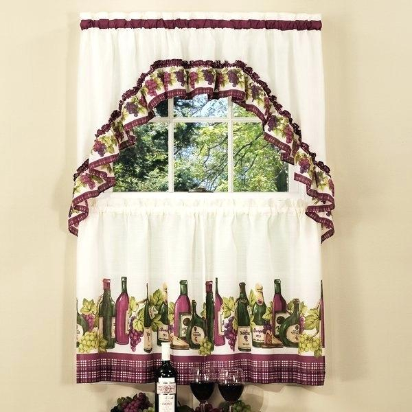 Swag Window Curtains – Umegold With Regard To Traditional Tailored Window Curtains With Embroidered Yellow Sunflowers (View 6 of 25)