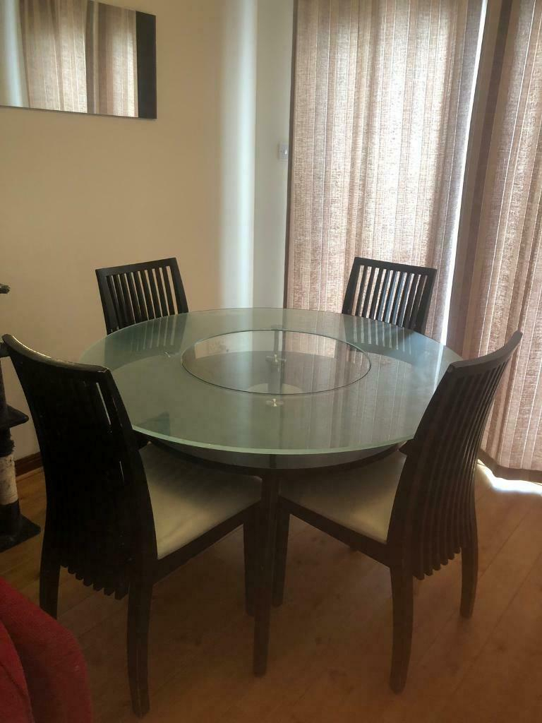 Table & 4 Chairs | In Livingston, West Lothian | Gumtree Regarding Most Popular Gray Wash Livingston Extending Dining Tables (View 17 of 25)