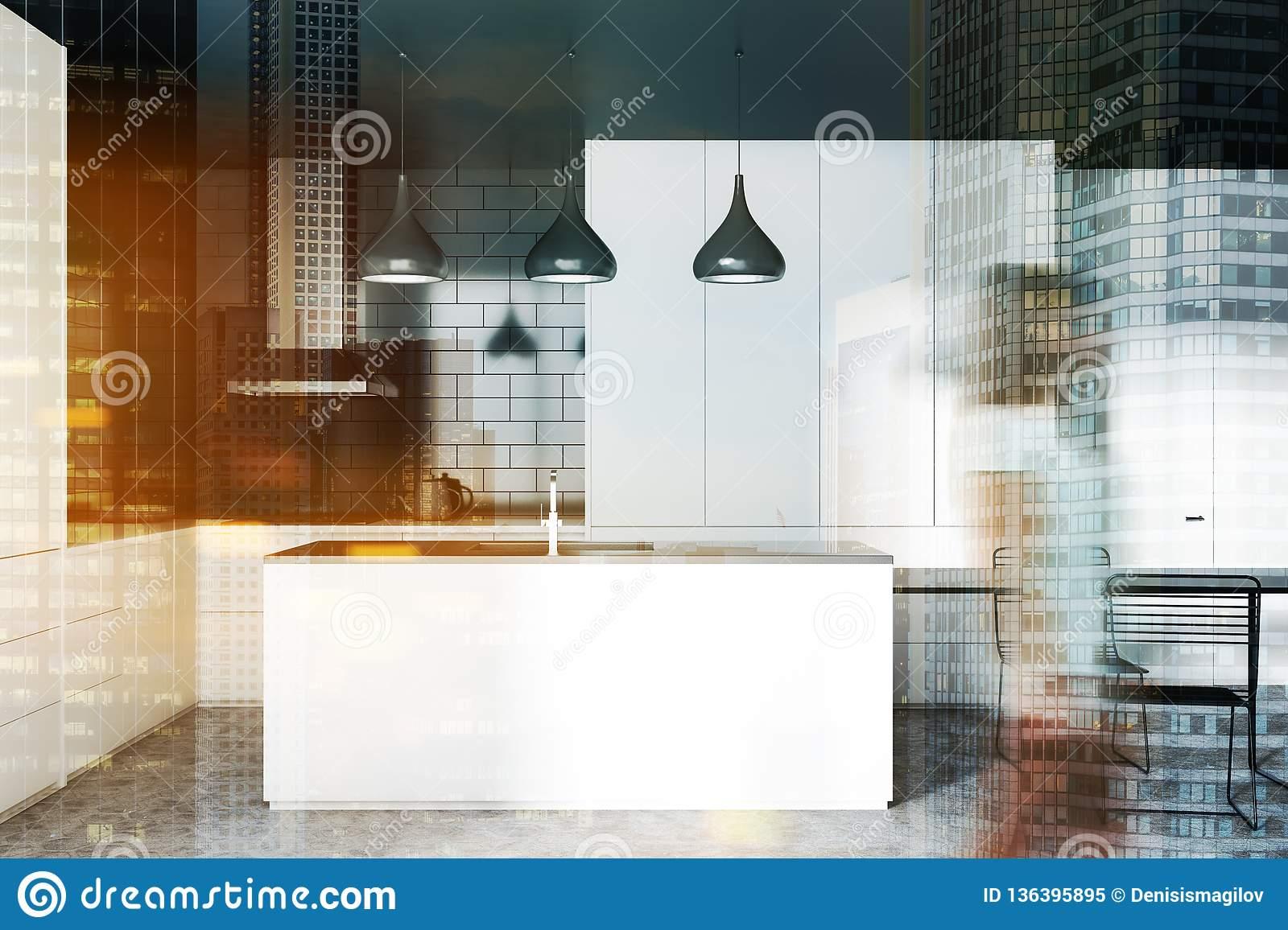 Table Brick Kitchen Island Design – Erigiestudio Regarding Most Up To Date Elworth Kitchen Island (View 18 of 25)
