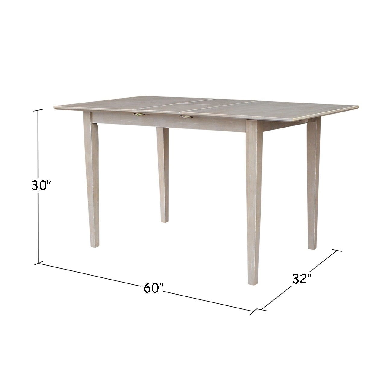Table With Butterfly Extension – Washed Gray Taupe – Washed Gray Taupe With 2017 Gray Wash Benchwright Extending Dining Tables (View 10 of 25)