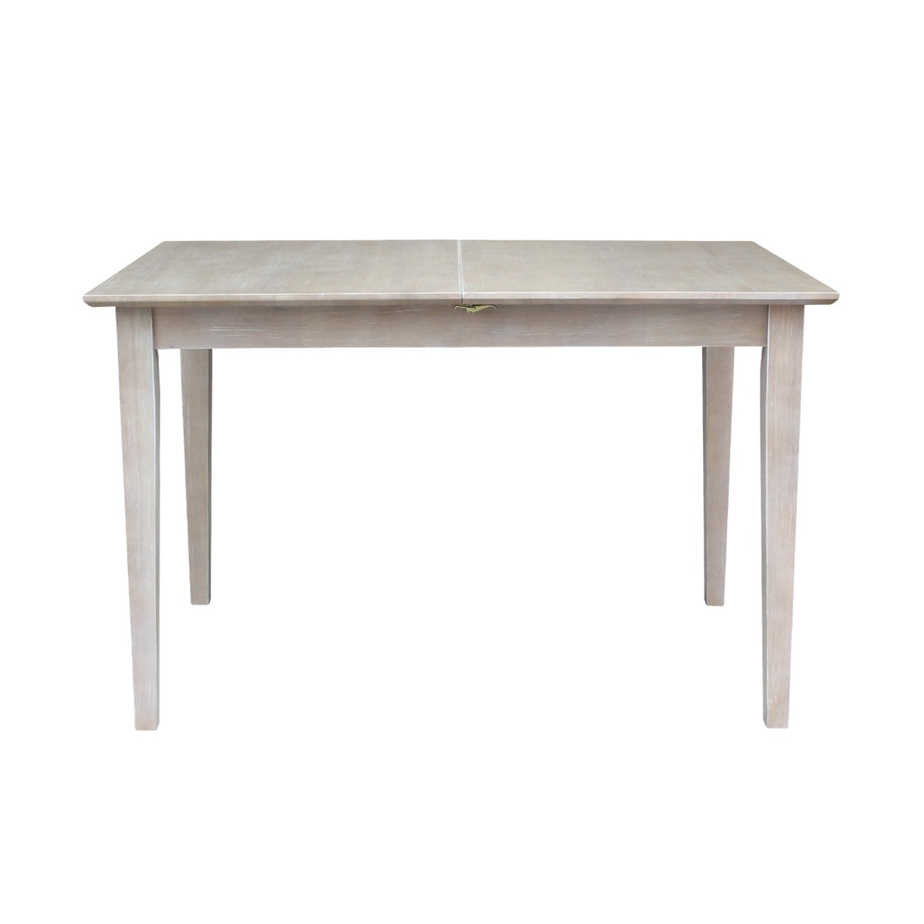 Table With Butterfly Extension – Washed Gray Taupe – Washed Gray Taupe With Regard To 2017 Gray Wash Benchwright Extending Dining Tables (View 12 of 25)