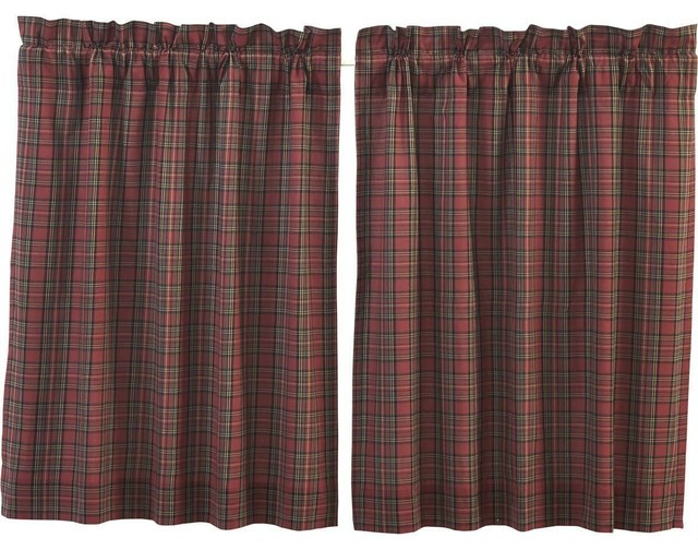 Tartan Red Plaid Tiers, 36X36 In Hopscotch 24 Inch Tier Pairs In Neutral (Image 24 of 25)
