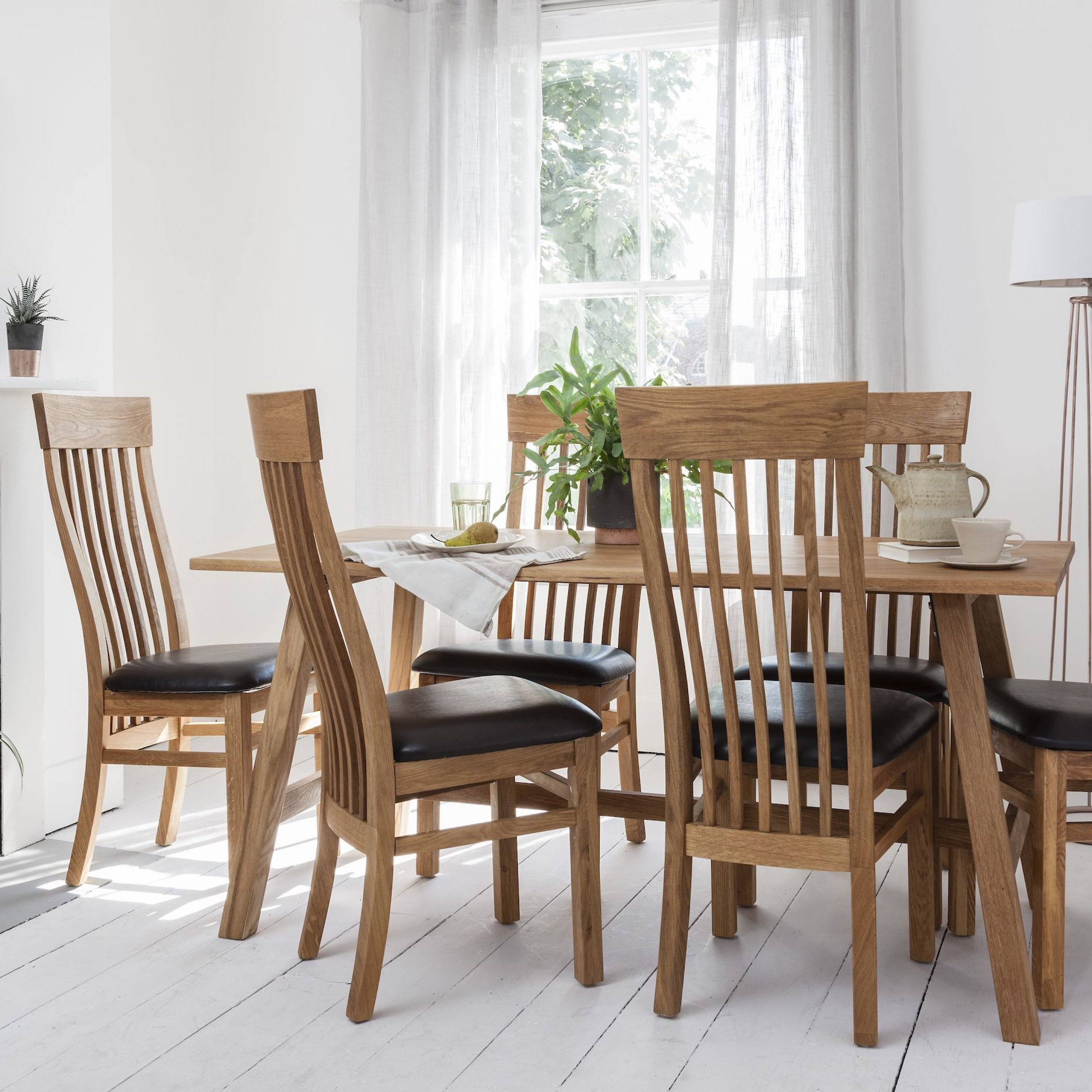 Thanks To Its Authentic Oak Shade, Graceful Chairs And With Recent Kipling Rectangular Dining Tables (Image 21 of 25)