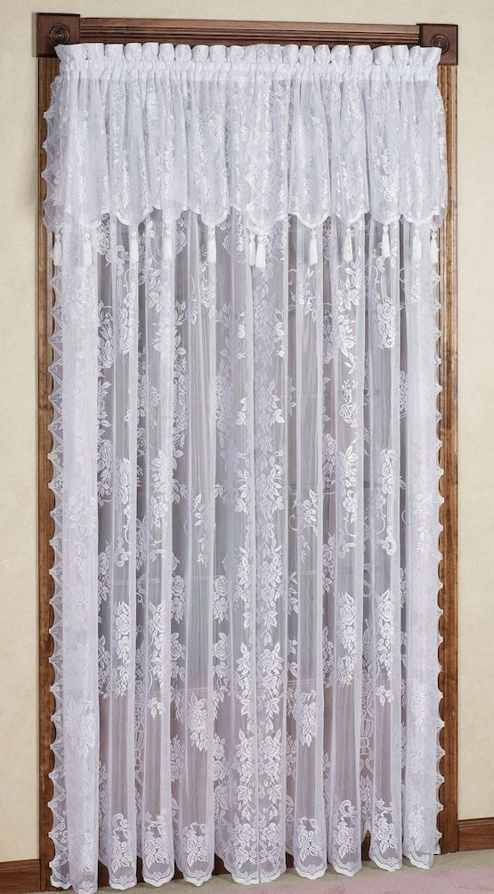 The Granny Decor Mistakes You Might Be Making | Lace In Ivory Knit Lace Bird Motif Window Curtain (Image 19 of 25)