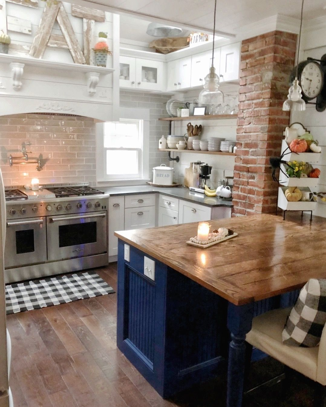 The Pickled Rose Farmhouse Kitchen | Small Farmhouse Kitchen Regarding Most Recently Released Elworth Kitchen Island (View 22 of 25)