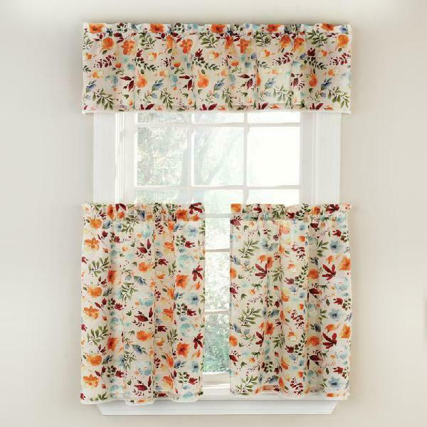 The Pioneer Woman Willow 3 Piece Kitchen Curtain Tier And Valance Set, Machine W With Wallace Window Kitchen Curtain Tiers (View 3 of 25)