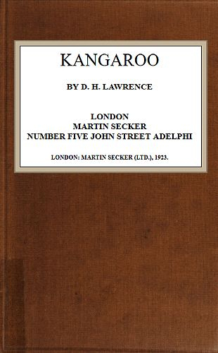 The Project Gutenberg Ebook Of Kangaroo,d. H. Lawrence (View 23 of 25)