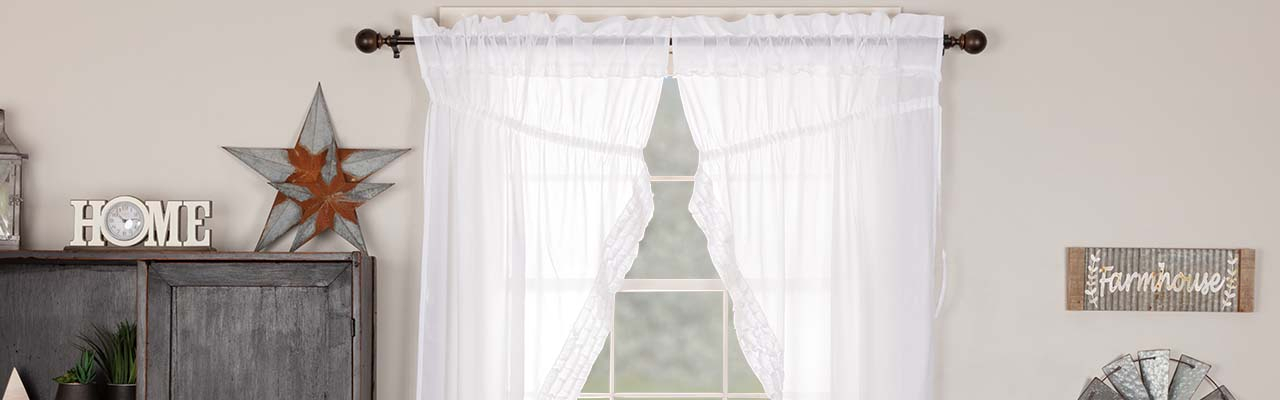 The Retailer's Quick Guide To Buying Sheer Curtains Throughout Bermuda Ruffle Kitchen Curtain Tier Sets (Image 21 of 25)