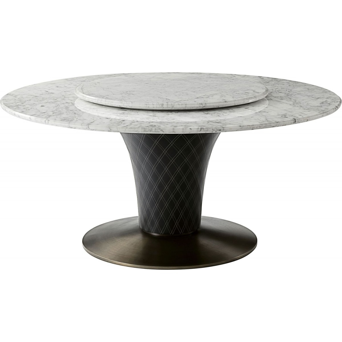 Theodore Alexander Steve Leung Pirouette Round Dining Table With Regard To Most Recently Released Alexandra Round Marble Pedestal Dining Tables (Image 25 of 25)