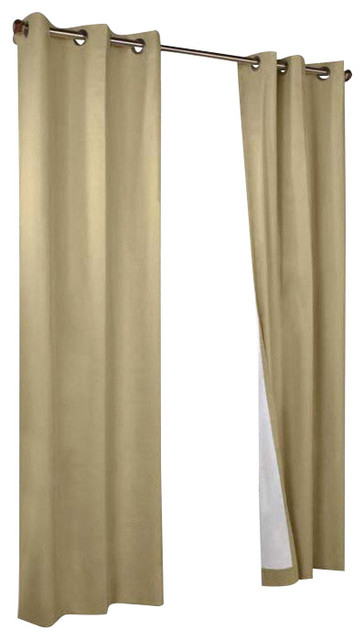 Thermalogic Weather Cotton Fabric Grommet Top Window Panel Pair Khaki Throughout Tranquility Curtain Tier Pairs (View 20 of 25)
