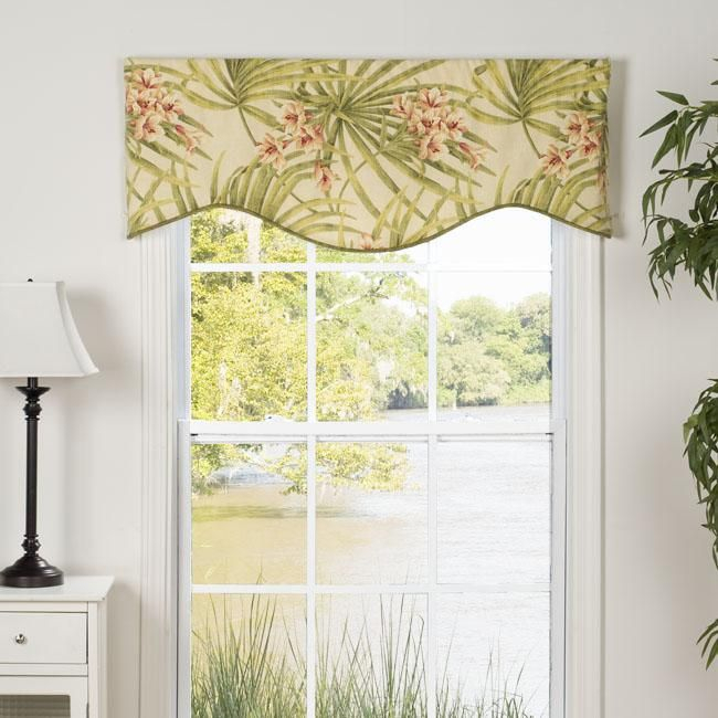 This Amelia Valance Showcases A Bright Tropical Floral Within Floral Pattern Window Valances (View 3 of 25)