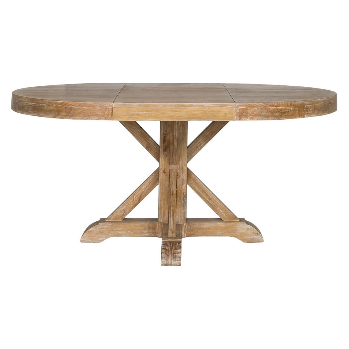 Thorne Extension Dining Table, Natural In 2019 | Extension Pertaining To Current Black Olive Hart Reclaimed Pedestal Extending Dining Tables (View 3 of 25)