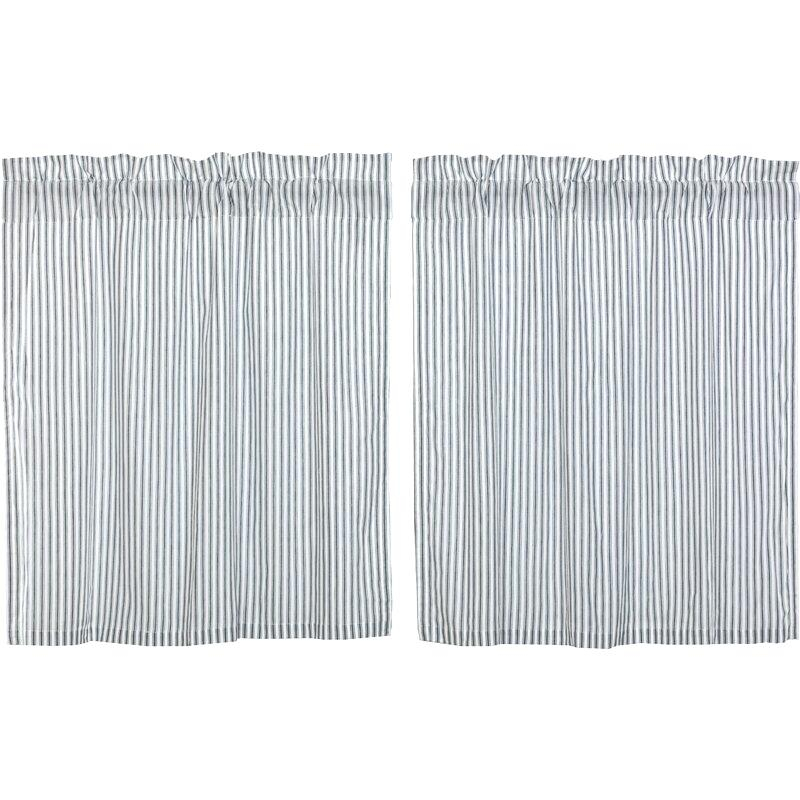 Ticking Stripe Curtains – Jjpainting With Regard To Classic Black And White Curtain Tiers (View 16 of 25)